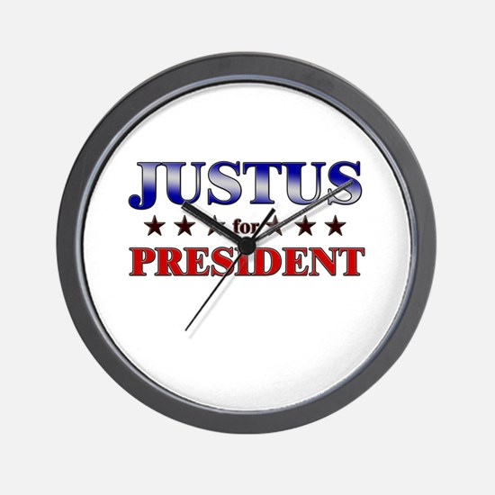 JUSTUS for president Wall Clock