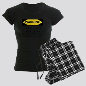 Warning, I'm Retired Women's Dark Pajamas