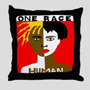 Anti-Racism Throw Pillow