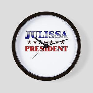 JULISSA for president Wall Clock