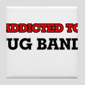 Addicted to Jug Band Tile Coaster