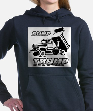 DUMP TRUMP Women's Hooded Sweatshirt