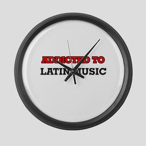 Addicted to Latin Music Large Wall Clock
