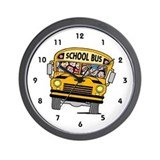 School bus Wall Clocks