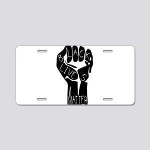 BLACK LIVES MATTER POWER Aluminum License Plate