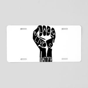 BLACK LIVES MATTER POWER Aluminum License Plate