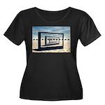 Surreal Elephant Desert Scene Plus Size T-Shirt
