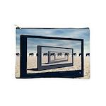 Surreal Elephant Desert Scene Makeup Bag