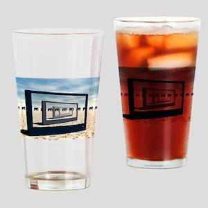 Surreal Elephant Desert Scene Drinking Glass