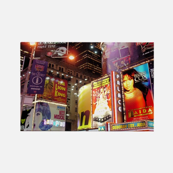 Broadway at Night Rectangle Magnet