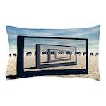 Surreal Elephant Desert Scene Pillow Case