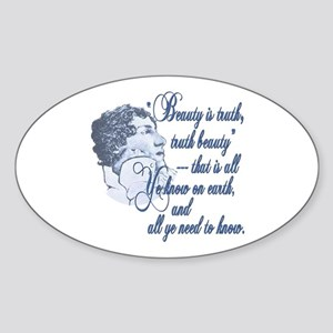 Beauty is Truth Oval Sticker