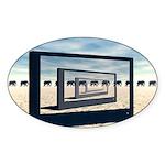 Surreal Elephant Desert Scene Sticker