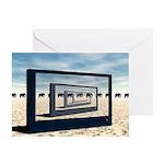 Surreal Elephant Desert Scene Greeting Cards