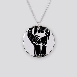 BLACK LIVES MATTER POWER FIS Necklace Circle Charm