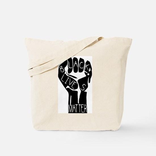 BLACK LIVES MATTER POWER FIST Tote Bag
