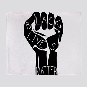 BLACK LIVES MATTER POWER FIST Throw Blanket