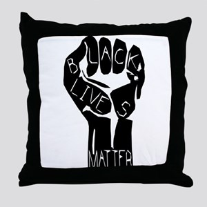 BLACK LIVES MATTER POWER FIST Throw Pillow