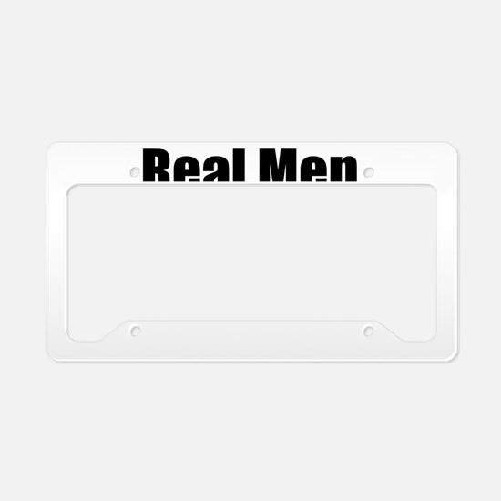 REAL MEN MAKE TWINS License Plate Holder