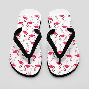 Flamingos tropical flamingo pattern pri Flip Flops