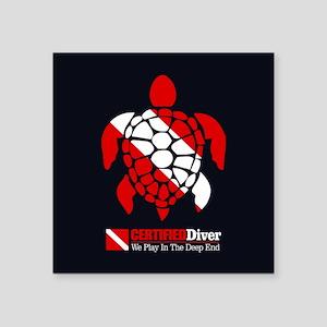 Turtle Dive Flag Sticker