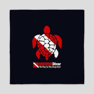 Turtle Dive Flag Queen Duvet