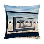 Surreal Elephant Desert Scene Everyday Pillow