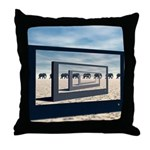Surreal Elephant Desert Scene Throw Pillow