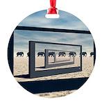 Surreal Elephant Desert Scene Ornament