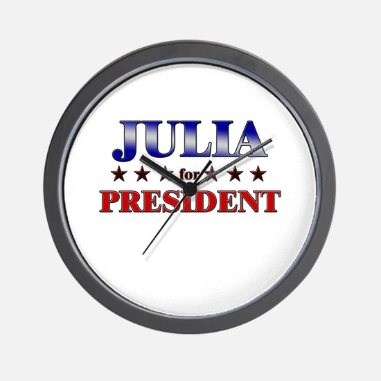 JULIA for president Wall Clock