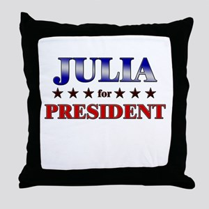 JULIA for president Throw Pillow