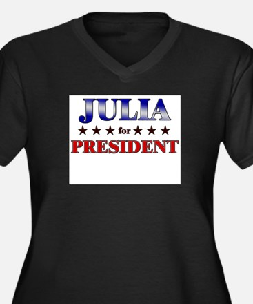 JULIA for president Women's Plus Size V-Neck Dark