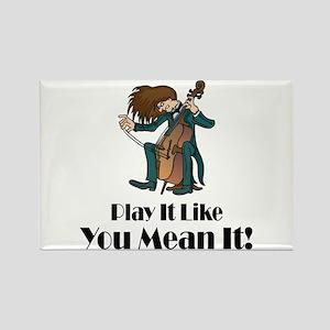 Play The Cello Rectangle Magnet