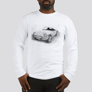 Triumph Spitfire Pencil Sketch Long Sleeve T-Shirt