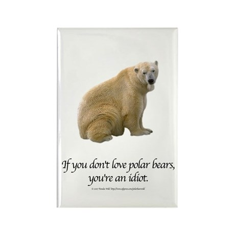 Polar Bear Rectangle Magnet (10 pack)