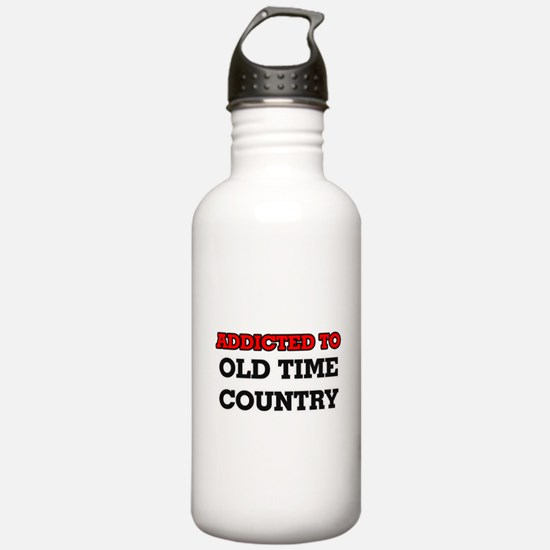 Addicted to Old Time C Water Bottle