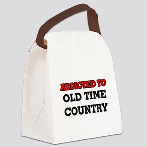 Addicted to Old Time Country Canvas Lunch Bag