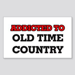 Addicted to Old Time Country Sticker