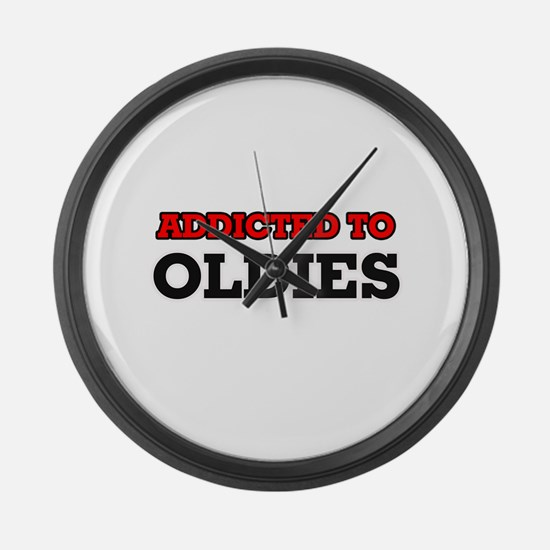 Addicted to Oldies Large Wall Clock