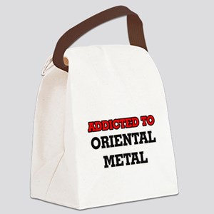 Addicted to Oriental Metal Canvas Lunch Bag
