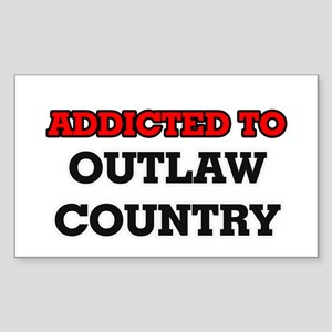 Addicted to Outlaw Country Sticker