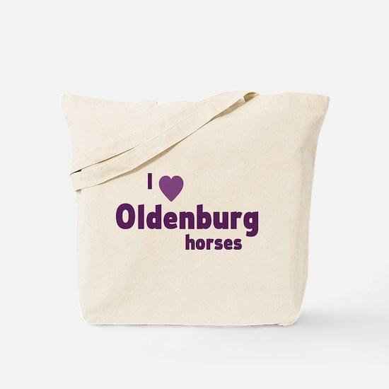 Oldenburg horses Tote Bag