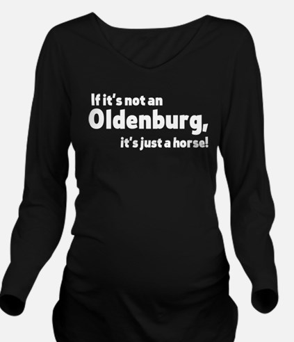 Oldenburg horse Long Sleeve Maternity T-Shirt