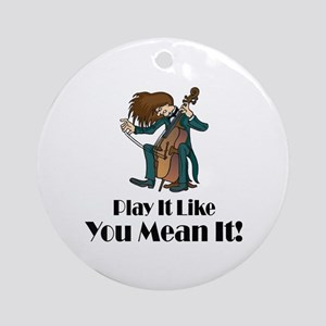 Play The Cello Ornament (Round)