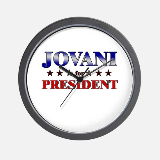 JOVANI for president Wall Clock