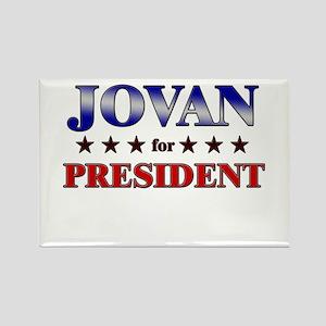JOVAN for president Rectangle Magnet