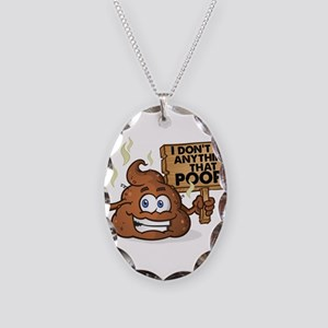 I Don't Eat Anything that Necklace Oval Charm