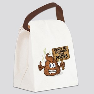 I Don't Eat Anything that Poo Canvas Lunch Bag