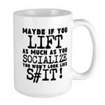 lift as much as you socialize Mugs