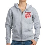 lift as much as you socialize Zip Hoodie